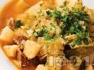 Рецепта Телешка яхния с картофи, праз и пащърнак
